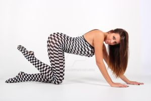 Black and White bodystocking by Aszap