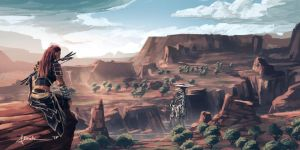 Horizon Zero Dawn - Carja Lands by onlychasing-safety