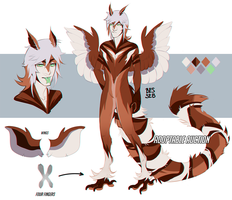 Striped owl Harpy Adoptable | AUCTION | closed | by BeSSeB