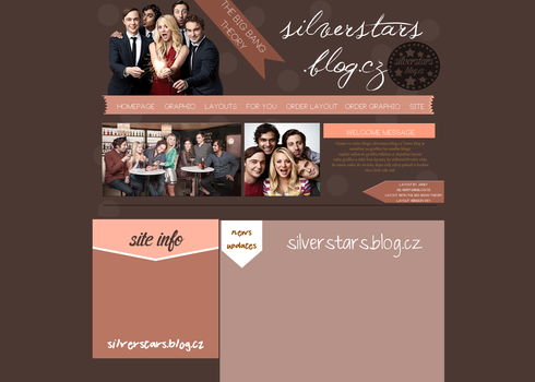 Past layout with The big bang theory by silverstars-graphic