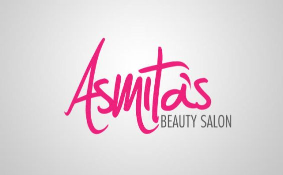 Asmita's Beauty Salon Logo Identity by MohsinFancy