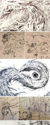 Smol Phonecam-quality Sketchdump by synderen