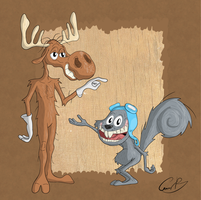 Rocky and Bullwinkle by SarToons
