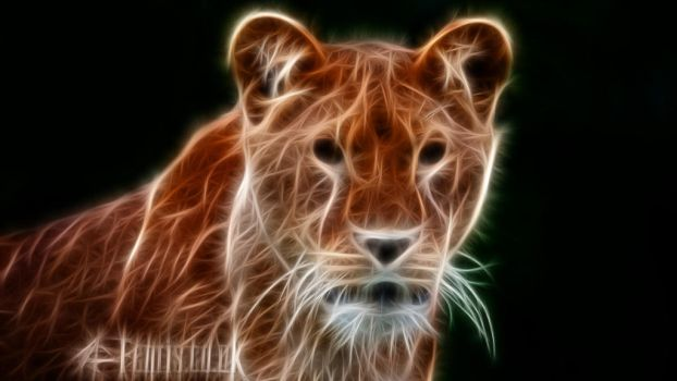 Fractal Lion #04 by FenrisOswin
