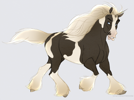Junicorn DAY 3: Gypsy Vanner by faithandfreedom