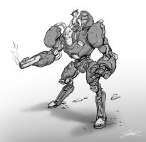 Evening mech sketch by Jordy-Knoop