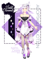 [CLOSED] Violet Diamond [adoptable] by Natx-chan