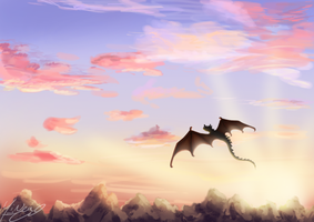 Flying through the horizon by SHINXxPOOCHYENA