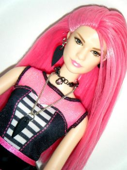 Pink Rock Star Barbie custom by kalavista