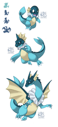 PokeFusion Vaporeon-Char Family by Darksilvania