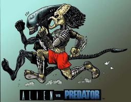 Alien vs Predator by Dracowhip