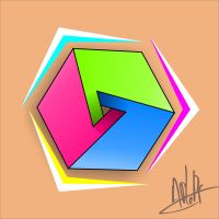 HexaCubic Triangle by APlaPi