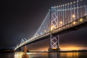 Bay Bridge, lights by alierturk