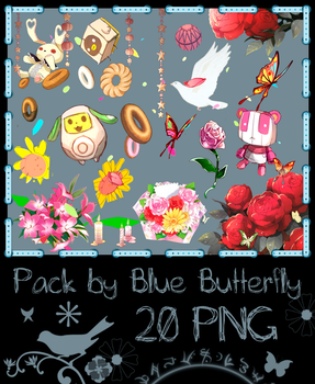 Pack by Blue Butterfly PNG 20 #1 by Butterfly-Blue-B