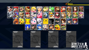 Roster Builder 3 Sample - Melee Style by ConnorRentz