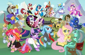 Too Much Pony - Bronycon Poster by tygerbug