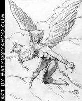Hawkgirl DC Comics by SatyQ