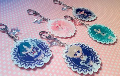 Sailor Outer Senshi Keychains by Nowii