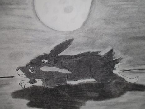 Lovely Rabbits in the Moon by Goth-Clown