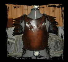 leather armor back view by Lagueuse