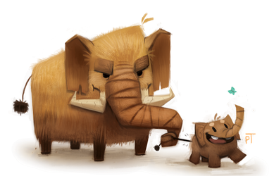 Mammoth Doodle by Cryptid-Creations