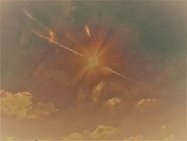 Sun - sky and clouds in abstract by knighttemplar1