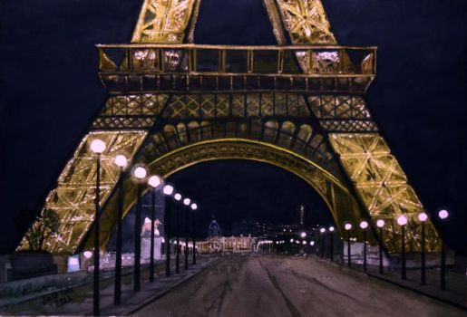 noche en Paris  WATERCOLOR by cefo40
