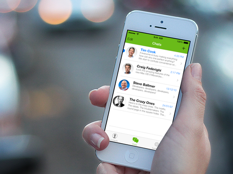 Interface: WhatsApp on iOS 7 by mppagano