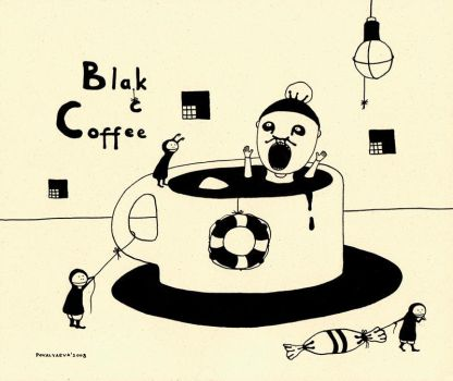 black coffee by maskpicasso