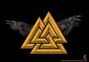 Valknut _gold by KainMorgenmeer