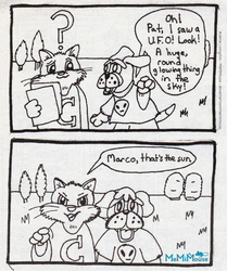 Marco and the UFO (Old First  Marco Comic) by MeMiMouse