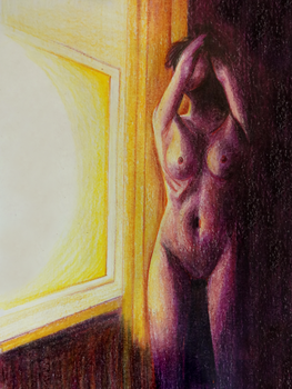 Window Lit Nude by Echo-AC
