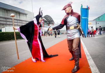 Sleeping Beauty Prince Philip vs Maleficent by CosplayQuest