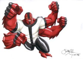 Four Arms from Ben 10 by SheldonGoh