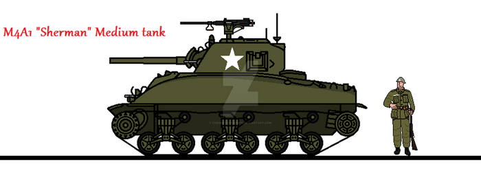 M4A1 Sherman Medium tank by thesketchydude13