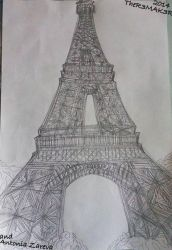 Eiffel Tower (First time trying) by TheR3MAK3R