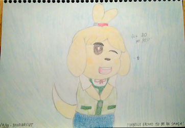 Isabelle is excited to be in Smash Ultimate! by Bananacup