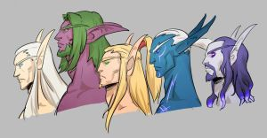 WoW Elves by Silsol
