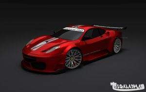 Ferrari F430 GTR Red_Front by TheSaladMan