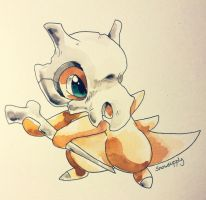 Cubone Watercolor by Snowsupply