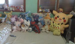 My Pokemon Plush Collection.......