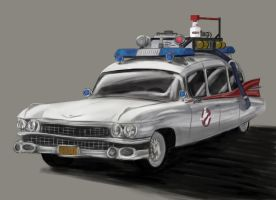 Ghostbusters car by SaturnHaynes