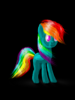 Vague Filly Rainbow by My-Brony-Side