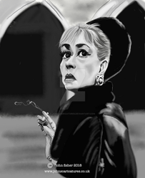 Jeanne Moreau.. by johnscaricatures