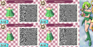 Animal Crossing QR Code Mew Lettuce by SuperAngel502