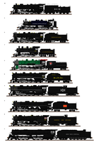 Top 10 Underrated Steam Locomotives by Andrewk4