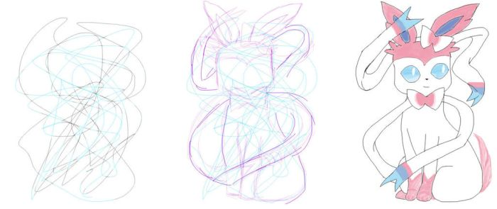 30 Day Art Challenge #2: Day 13 - Scribble Sylveon by PikaInABag