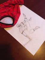 Spider-Man - Up, up, and away web! by Fedexassassin