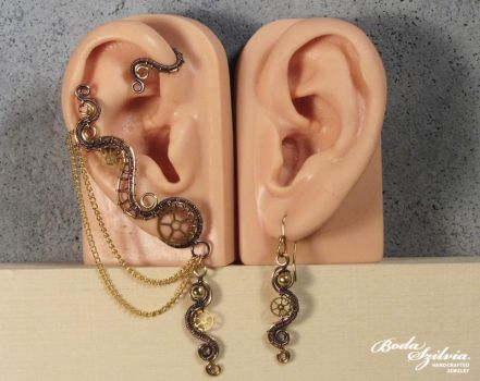Steampunk ear wrap set by bodaszilvia
