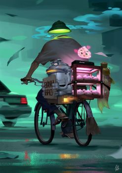 Limbo: Dumpling seller by cloudintrousers